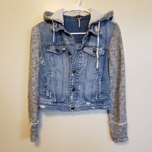 Free People | Jean jacket with detachable hood
